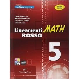 Lineamenti.math rosso 5