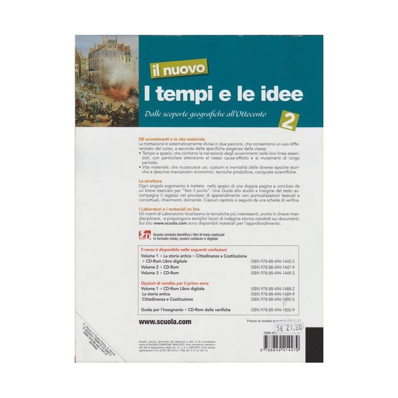 I Tempi E Le Idee 3.9788849414479 Il Nuovo I Tempi E Le Idee 2 Gliozzi Nicola Ruata