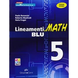 9788853804334 Lineamenti.Math Blu 5