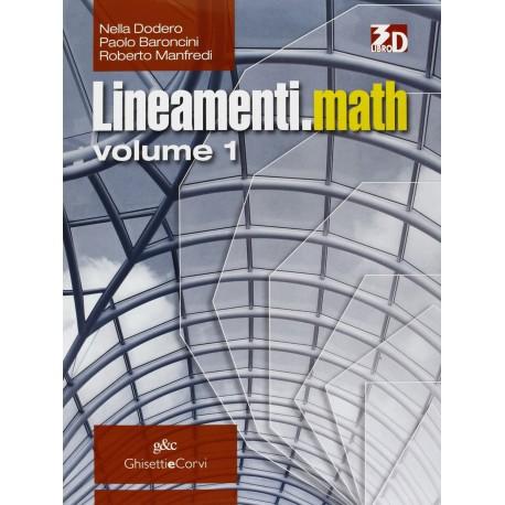 9788853818218 Lineamenti.Math 1