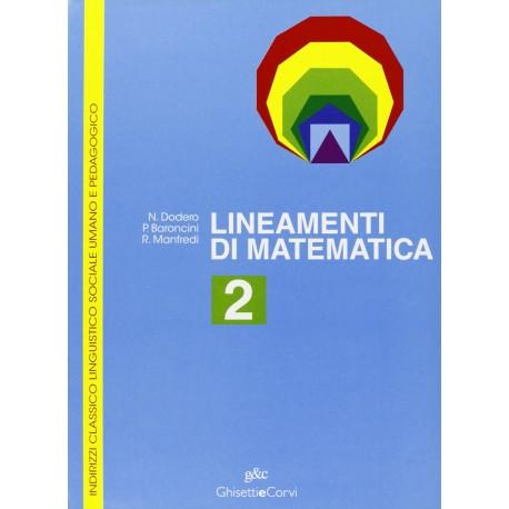 9788880136736 Lineamenti di matematica 2
