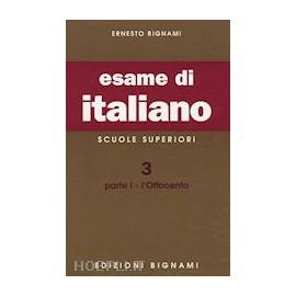 L'esame di italiano. L'800.